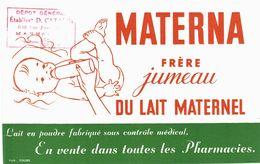 Vieux Papiers - Buvard - Médical -  Lait Materna - Tampon établissement D Catalin Marseille - 2 Buvards - Produits Pharmaceutiques