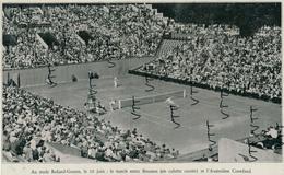 Photo (1935) : TENNIS, ROLAND-GARROS, Match Entre Le Français Christian Boussus Et L'Australien Crawforf Le 10 Juin - Tennis