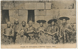 Ruinas De Intihuatana Y Nativos Cuzco  P. Used To Cuba - Pérou