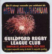UNUSED BEERMAT - GUILDFORD RUBGY LEAGUE CLUB NEW MILLENNIUM (AUSTRALIA) - Sous-bocks