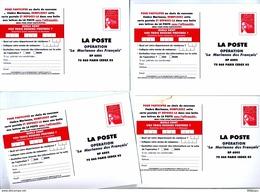 Lot 4 Carte Postale Liberte Poste Choisir La Marianne - Entiers Postaux