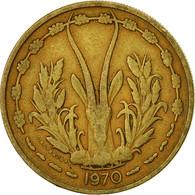 West African States, 25 Francs, 1970, Paris, TTB, Aluminum-Bronze, KM:5 - Ivory Coast