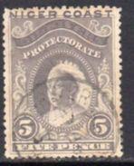 Nigeria Niger Coast QV 1894 3d Grey-lilac Value, Perf 13½-14, Used, SG 49b - Nigeria (...-1960)