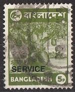 Bangladesh 1976 Sc. O16 Official Stamps Overprinted Service Jack Fruit Used - Bangladesh