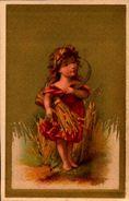 12 Petits Chromos  -  Fonds Or - Personnes Diverses  - Dos Vierge - Bill-809  - - Trade Cards