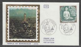 ENVELOPPE 1ER JOUR DE FRANCE - TEMPLE DE BOROBUDUR (CEF) - Buddhism