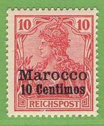 MiNr. 9 Xx  Deutschland Deutsche Auslandspostämter Marokko - Deutsche Post In Marokko