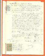 """78 Versailles """" Acte Notarié 6 Pages Saisie D'immeuble 1887 """" Timbre Fiscal De Quitance - VPAN 4 - Zonder Classificatie"""
