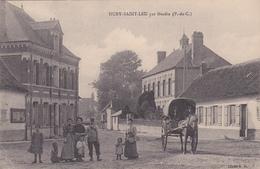 62  HUBY SAINT LEU  - Par Hesdin  -  Facteur -  Cliché E.D  -   CPA  N/B 9x14 BE - Other Municipalities