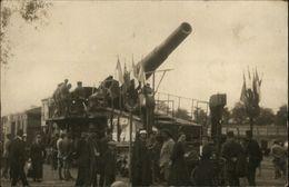 MILITARIA - GUERRE 14-18 - Canon Allemand - Carte Photo - PARIS - Guerre 1914-18