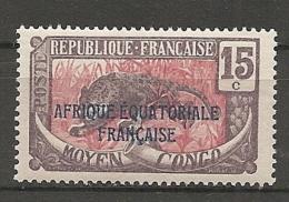 CONGO -  Yv. N° 77   ** MNH  15c  Panthère  Cote  1,2  Euros  TBE 2 Scans - French Congo (1891-1960)