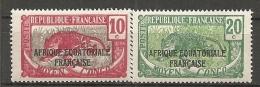 CONGO -  Yv. N° 93, 94 ** MNH   10c, 30c    Cote 1,2 Euros  TBE 2 Scans - French Congo (1891-1960)