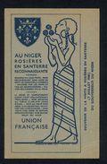 """CP VIERGE """"SOUVENIR DE LA VISITE A ROSIERES EN SANTERRE DU GOUVERNEUR DU NIGER LE 7/07/1946 """" - Rosieres En Santerre"""