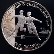 "TONGA 1 PAANGA 1992 SILVER PROOF ""WORLD CHAMPIONSHIP 1994"" (free Shipping Via Registered Air Mail) - Tonga"