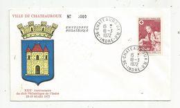 Timbre, Lettre , Ville De CHATEAUROUX , INDRE , 1972, XXX E Anniversaire Club Philatélique De L'Indre , N° 0060 - Poststempel (Briefe)