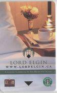 CANADA KEY HOTEL  Lord Elgin - OTTAWA - Hotel Keycards
