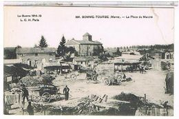 51 SOMME  TOURBE  LA PLACE  DU MARCHE     TBE  1N482 - Autres Communes