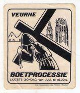AUTOCOLLANT . STICKER .  VEURNE . BOETPROCESSIE .  ( état A Voir ) - Stickers