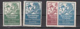 Nürnberger Trichter,4W,Carneval-Gesellschaft Nürnberg,Sitz Im Herkules Velodrom,Ungebraucht,(C286) - Fantasie Vignetten