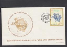 CILE  1981 - FDC - Yvert 562 - Centenario U.P.U. - Chile