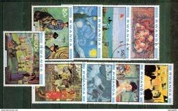 1980 - Peinture, Impressionnistes - RUANDA - Renoir, Toulouse Lautrec, Monet, Cassat, Van Gogh, Degas, Cézanne, Gauguin - Rwanda