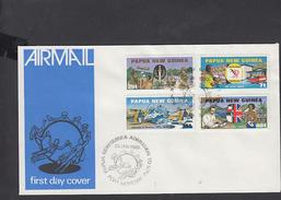 PAPUA E NUOVA GUINEA  1980 - FDC - Yvert 380/83 - Annullo Speciale U.P.U. - Papua Nuova Guinea
