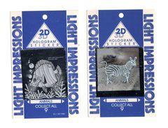 Lot De 2 Stickers Holographiques Light Impression Impression Laser Poisson Et Zebre - Unclassified