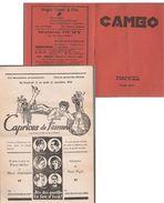 NAMUR   Programme Cinema Caméo 1935 - Programas