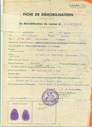 """52 Chaumont """" Fiche De Démobilisation Artillerie 2e Classe Pour Belfort 159° Regiment  """" 3 Scans - VPAN 4 - Documentos Antiguos"""