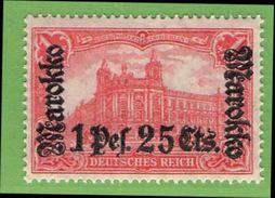 MiNr. 55 II.B Xx  Deutschland Deutsche Auslandspostämter Marokko - Deutsche Post In Marokko