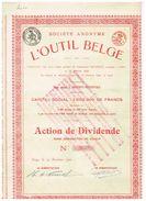 Action Ancienne - Société Anonyme L' Outil Belge - Titre De 1920 - Industrial