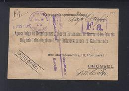 Dt. Reich Kriegsgefangenensendung 1918 Holzminden Nach Belgien - Deutschland