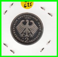 ALEMANIA - GERMANY  MONEDA DE 2.00 DM  AÑO 1981-F  KONRAD ADENAUER CALIDAD PROOF S/C - [ 7] 1949-… : RFA - Rep. Fed. Alemana