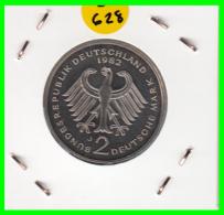 ALEMANIA - GERMANY  MONEDA DE 2.00 DM  AÑO 1982-J  KONRAD ADENAUER CALIDAD PROOF S/C - [ 7] 1949-… : RFA - Rep. Fed. Alemana
