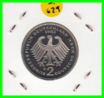 ALEMANIA - GERMANY  MONEDA DE 2.00 DM  AÑO 1983-D  KONRAD ADENAUER - [ 7] 1949-… : RFA - Rep. Fed. Alemana