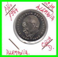 ALEMANIA - GERMANY  MONEDA DE 2.00 DM  AÑO 1984-D  KONRAD ADENAUER CALIDAD PROOF S/C - [ 7] 1949-… : RFA - Rep. Fed. Alemana