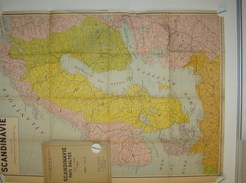 Kaart Carte Map - Scandinavie Pays Baltes  - Ed.De Rouck Bruxelles - Geographical Maps