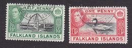 Falkland Islands, Scott #84-85, Used, George VI And Scenes Of Falkland Islands, Issued 1938 - Falkland Islands