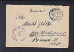 Dt. Reich Feldpost Fahnenjunker-Kursus Döberitz 1916 - Briefe U. Dokumente