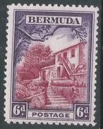 Bermuda. 1936-47 KGV. 6d MH. SG 104 - Bermuda