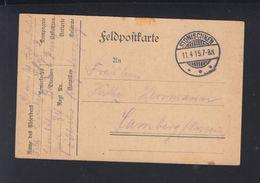 Dt. Reich Feldpost Litauen Lithuania Stonischken Stoniškiai 1915 - Germany
