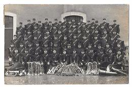 23e REGIMENT D'INFANTERIE à BOURG  - Carte-photo  MUSIQUE MILITAIRE Avec CUIVRES Et CONTREBASSE -guerre 14/18 Animation - Regimente