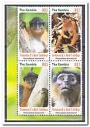 Gambia 2016, Postfris MNH, Monkeys, WWF - Gambia (1965-...)