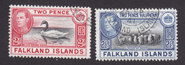 Falkland Islands, Scott #86A, 87, Used, George VI And Scenes Of Falkland Islands, Issued 1938 - Falkland Islands