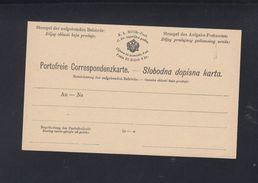 KuK Militär-Post Portofreie-Correspondenzkarte - Ganzsachen