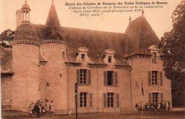 CPSM, Oeuvre Des Colonies De Vacances Des écoles Publiques Rennes, La Bouexière, Préventorium Rey, Chateau Du Carrefour - Other Municipalities