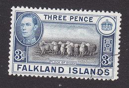 Falkland Islands, Scott #87A, Used, George VI And Scenes Of Falkland Islands, Issued 1938 - Falkland Islands