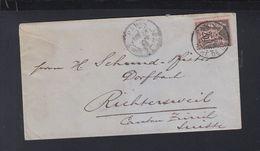 Lettre 1886 Pour La Suisse - Poststempel (Briefe)