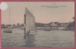 33 - ANDERNOS---La Plage Terrasse--voilier--animé - Andernos-les-Bains