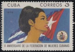 1970.68 CUBA 1970 MNH. Ed.1786. X ANIV FEDERACION MUJERES CUBANAS. FMC. - Cuba